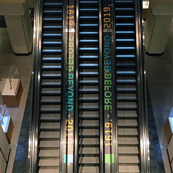 NAIS People of Color Conference 2019 Escalator Ribbon Decals