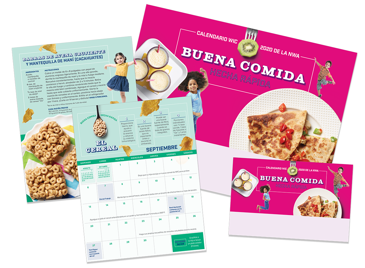 2020 WIC Calendar Spanish Versions