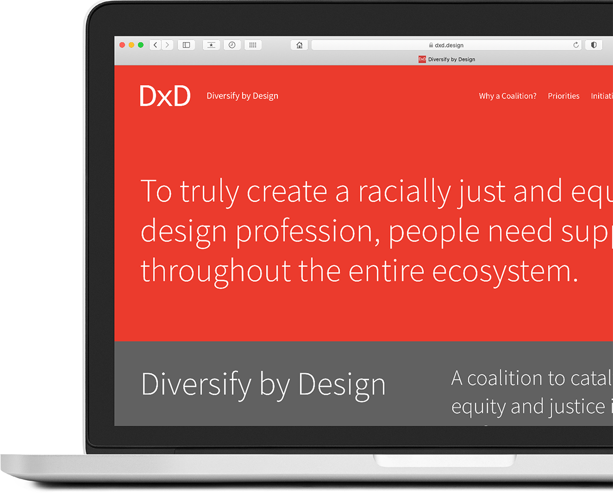 Diversify by Design homepage