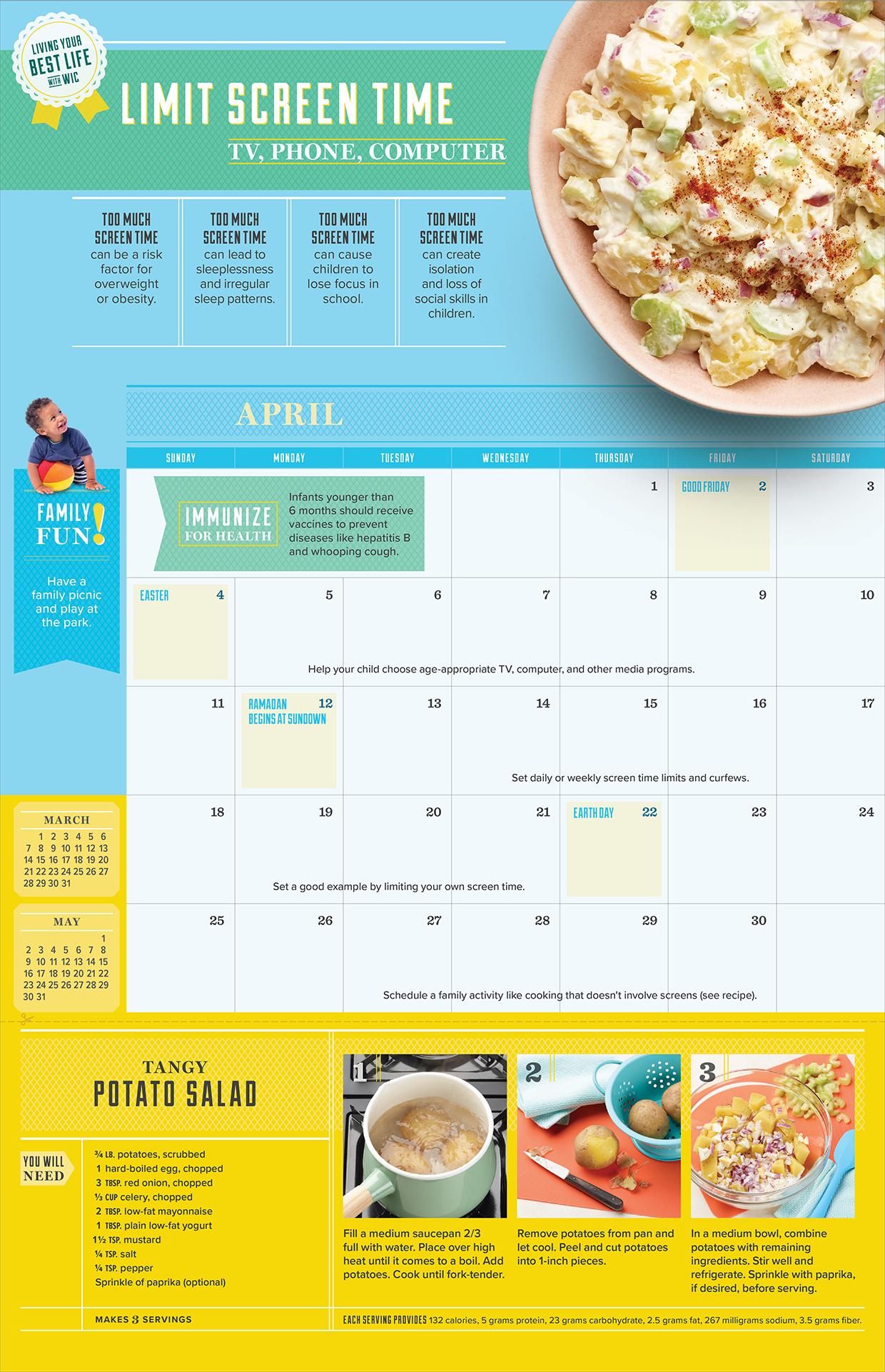 2021 WIC Calendar April